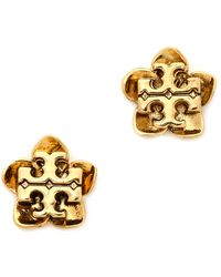 Tory Burch Cecily Flower Stud Earrings Antiqued Gold - Lyst