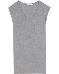 T By Alexander Wang Classic Muscle Jersey T-Shirt - Lyst