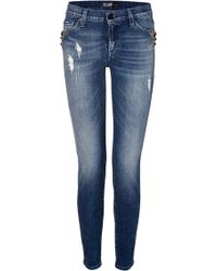 7 For All Mankind The Skinny Jeans In Blue Rock Indigo - Lyst