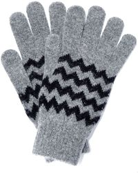 Howlin' By Morrison - Grey Zion Zig Zag Wool Gloves - Lyst