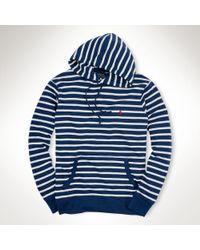 Polo Ralph Lauren Striped Terry Atlantic Hoodie - Lyst