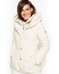 DKNY Pillow Collar Down Puffer Coat - Lyst