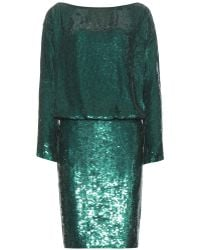 Givenchy Sequined Silk Dress - Lyst