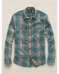 RRL Cotton Rancher Western Shirt - Lyst