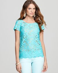 Lilly Pulitzer - Poppy Lace Top - Lyst