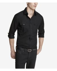 Express Extra Slim Cotton Shirt - Lyst