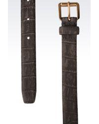 Giorgio Armani Leather Belt - Lyst