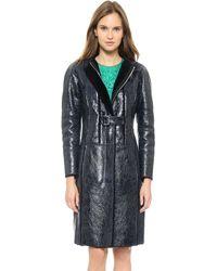 Nina Ricci Long Shearling Coat  Eclipse - Lyst