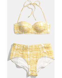 COACH - Wavy Gingham Retro Bikini - Lyst
