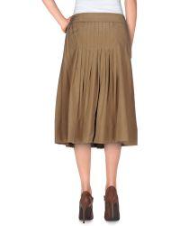 Albino   Knee Length Skirt   Lyst
