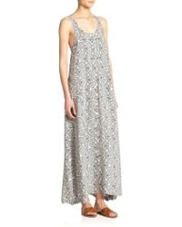 Theory Coruna Indo Printed Silk Maxi Dress - Lyst