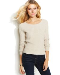Inc International Concepts Petite Ribbed Cropped Sweater - Lyst