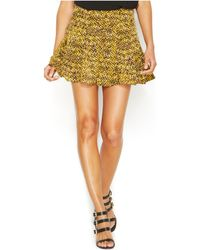 Michael Kors Michael Python-Print Flared Skirt - Lyst