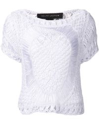 Ralph Lauren Black Label Crochet Blouse - Lyst