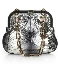 Dee Ocleppo - Mustique Ostrich-trimmed Fur, Python And Suede Convertible Shoulder Bag - Lyst
