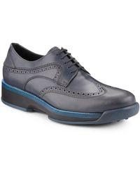 Ferragamo Shaun Leather Derby Shoes - Lyst