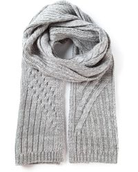 Duffy - Cable Knit Scarf - Lyst