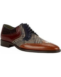 Etro - Leather And Fabric Oxford Shoe - Lyst