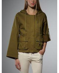Patrizia Pepe Short Parka Jacket In Cotton - Lyst