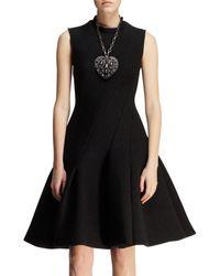 Lanvin Bias-seamed Flared Neoprene Dress - Lyst