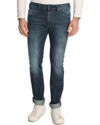 Diesel Thavar Washed Blue Slim Fit Jeans - Lyst