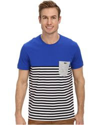 Lacoste Bridge Ss Jersey Color Block Stripe T-shirt - Lyst