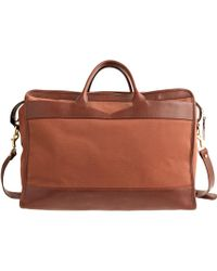 J.Crew Lotuff® Leather Zipper Holdall Travel Bag - Lyst