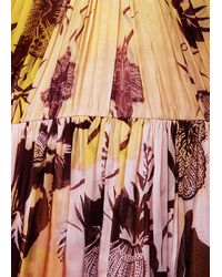 Matthew Williamson Hibiscus Silk Chiffon Gathered Knot Gown - Lyst