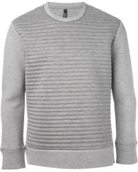 Neil Barrett Ribbed Sweatshirt - Lyst