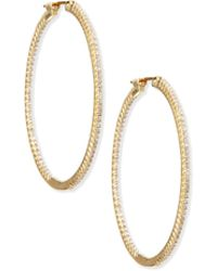 Sethi Couture - 18k Gold Diamond Hoop Earrings - Lyst