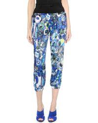 Just Cavalli Cropped Print Pants  - Lyst