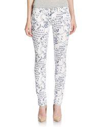 Grace In La - Floral Print Skinny Jeans - Lyst