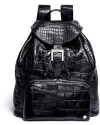Stalvey - 'sun' Alligator Leather Backpack - Lyst