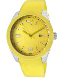 PUMA - Men'S Yellow Rubber And Dial - Lyst