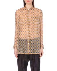 Dries Van Noten Calybe Pixelated-Print Silk-Chiffon Shirt - For Women - Lyst