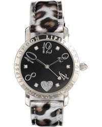 Lipsy - Animal Print Strap Watch with Black Dial - Lyst