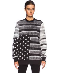 Givenchy Flag Print Cotton Sweatshirt - Lyst