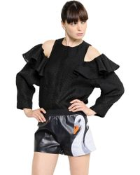 Viktor & Rolf Ruffled Textured Jacquard Shirt - Lyst