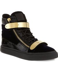 Giuseppe Zanotti Double-Bangle Velvet High-Top Trainers - For Men - Lyst