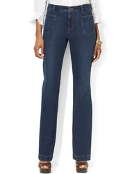 Lauren by Ralph Lauren Lauren Jeans Co Patchpocket Straightleg Jeans - Lyst