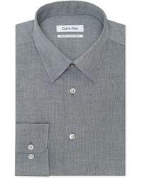 Calvin Klein Mercury Dobby Print Dress Shirt - Lyst
