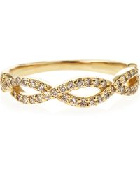 KC Designs - 14k Diamond Pave Stackable Twist Ring Yellow Gold Size 65 - Lyst