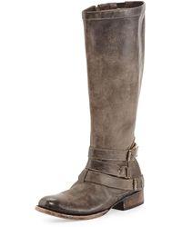 Freebird Irish Triple-buckle Distressed Knee Boot - Lyst