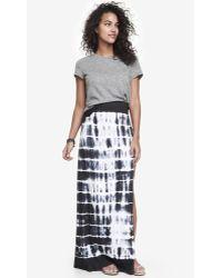 Express Tie Dye Slub Knit Maxi Skirt - Lyst