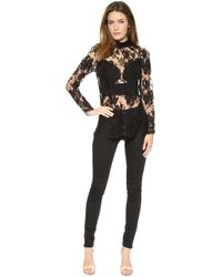Zimmermann Racer Lace Blouse Black - Lyst