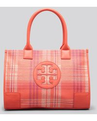 Tory Burch Tote - Plaid Mini Ella - Lyst