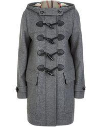 Burberry Brit Finsdale Straight Fit Duffle Coat - Lyst