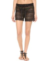 Miguelina Erie Cover Up Shorts Black - Lyst