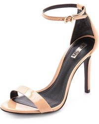 Schutz Cady Lee Sandals Beach Sand - Lyst
