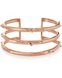 Katie Design Jewelry - Rose Gold Vermeil Trinity Thorn Cuff - Lyst